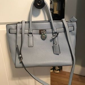 Michael Kors light blue purse